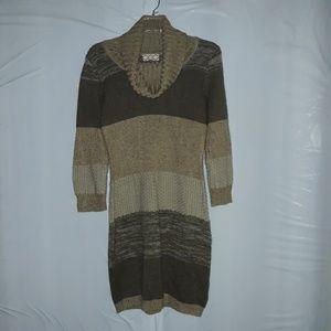 🎃Pink rose cowl neck sweater dress